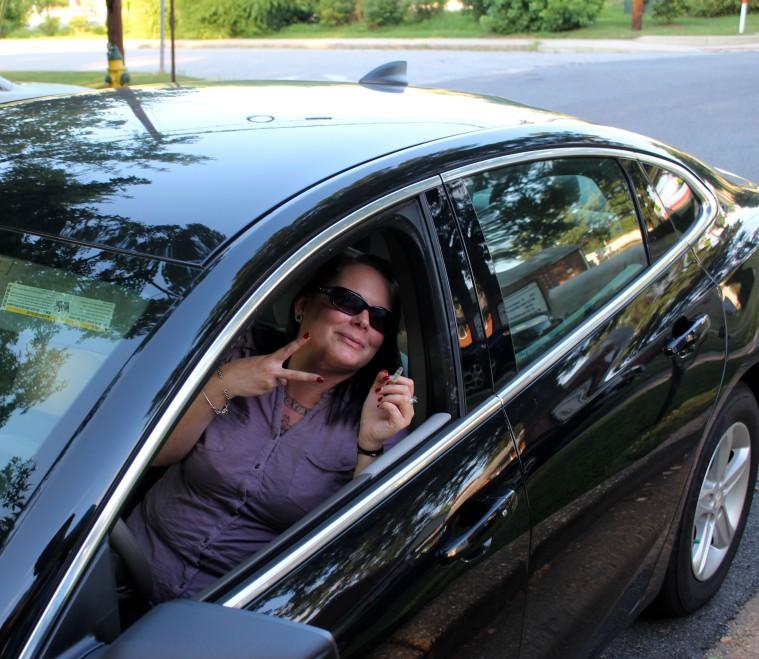 Julie car crop