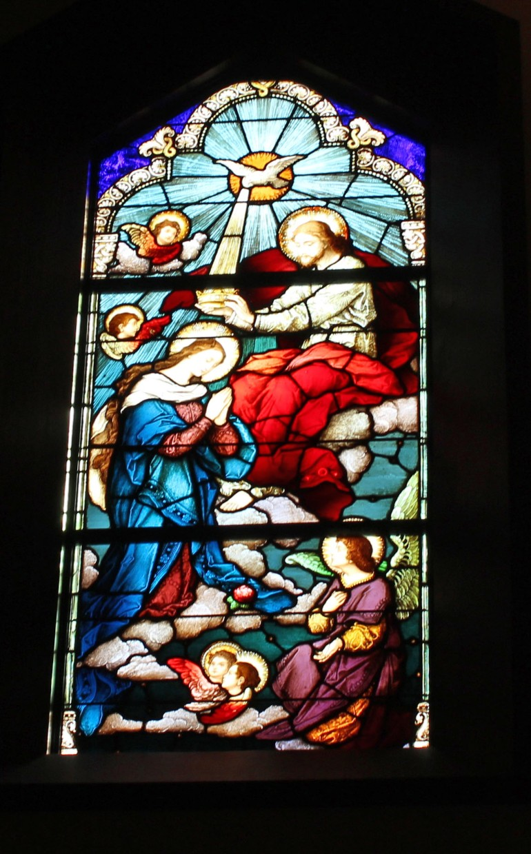 Stained glass visitation