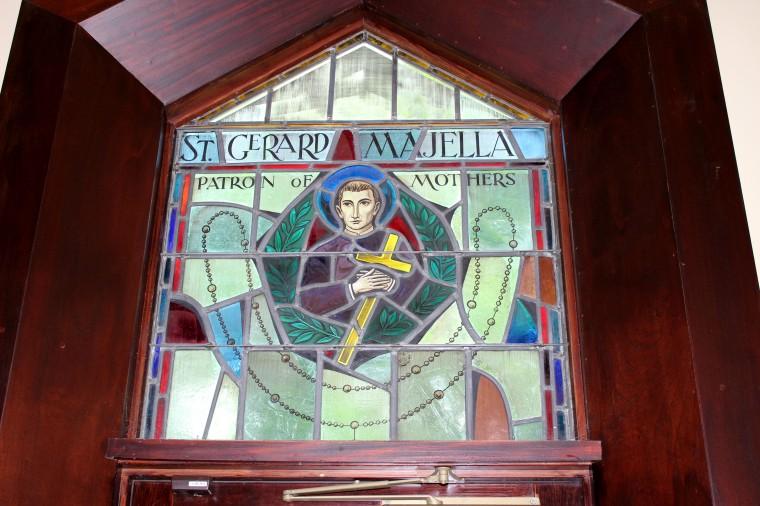 Stained glass Saint Gerhard