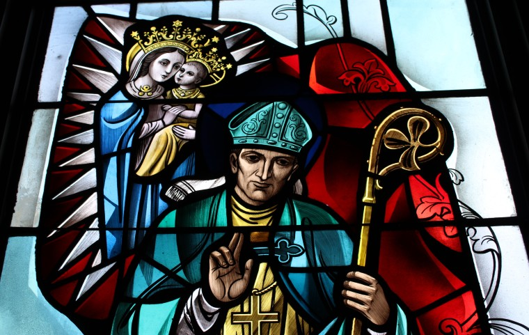 Stained glass Saint Patrick