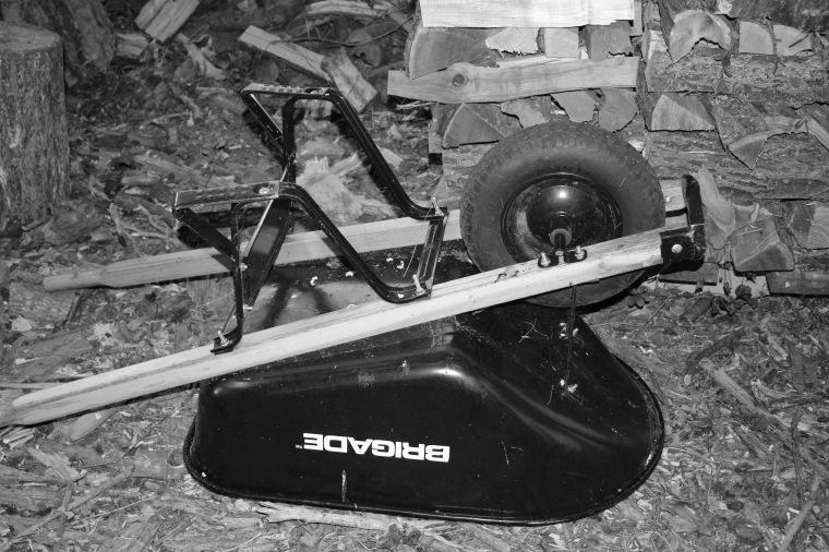 Wheel barrow bw