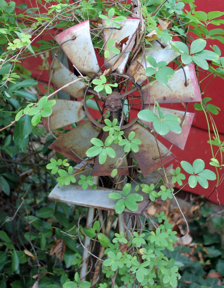 Windmill with vines