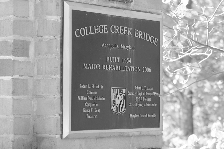 College creek bridge bw.jpg