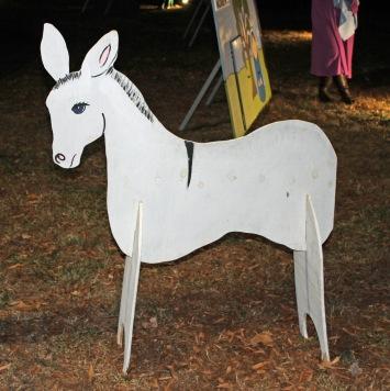 Cutout donkey