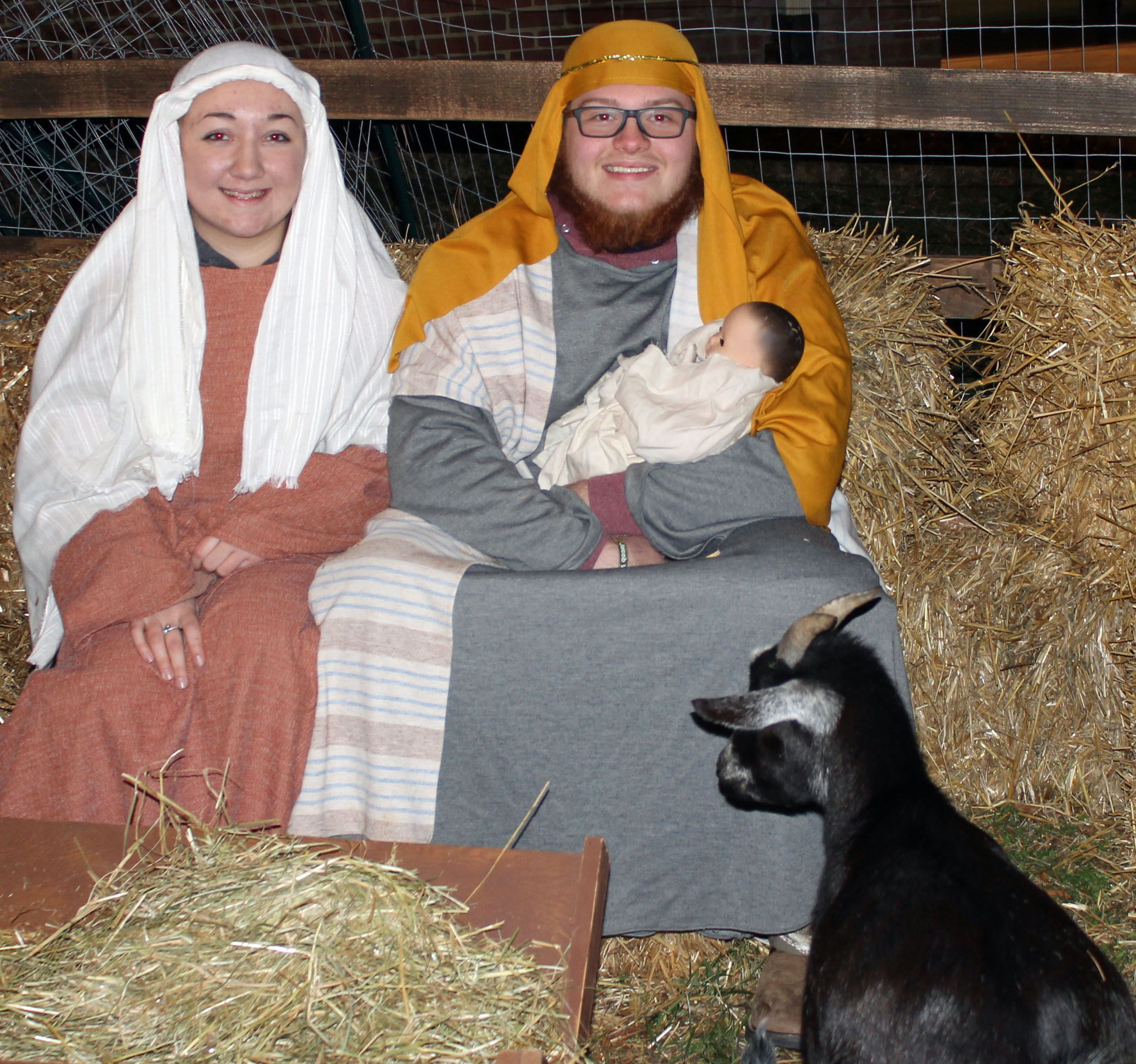 Holy Family and Goat