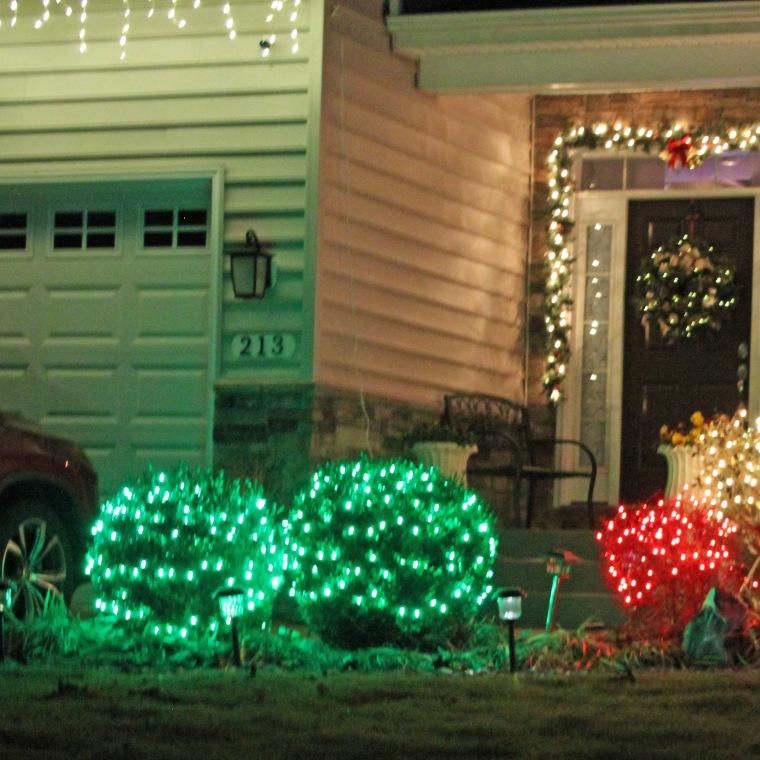 Christmas lights 4 square
