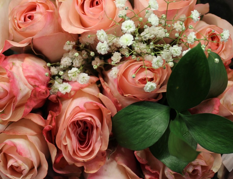 Pink 5 roses