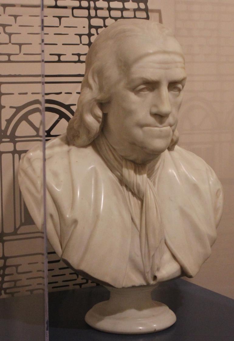 Sculpture Ben Frank bust