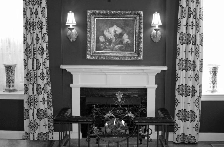 Fireplace bw